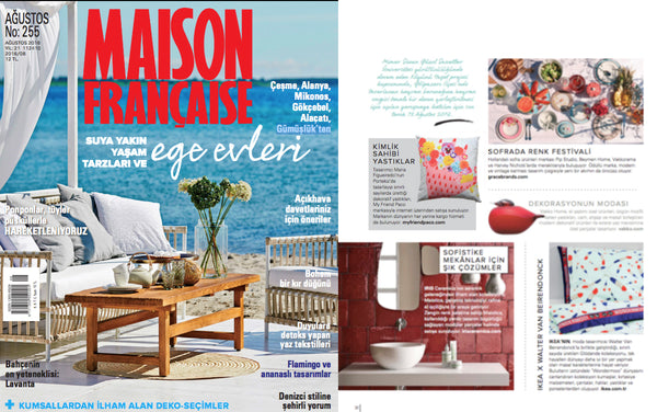 Ambar designer cushion by my friend paco at magazine decor maison française turkey