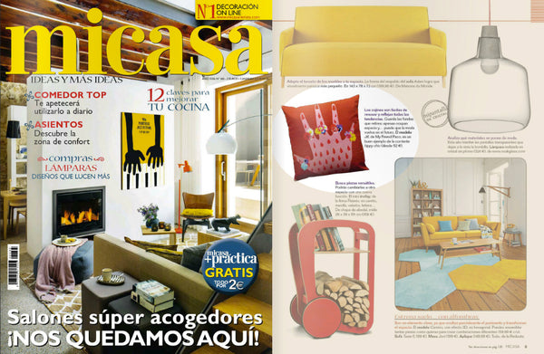 my friend paco printed designer cushion at spanish interior design magazine micasa