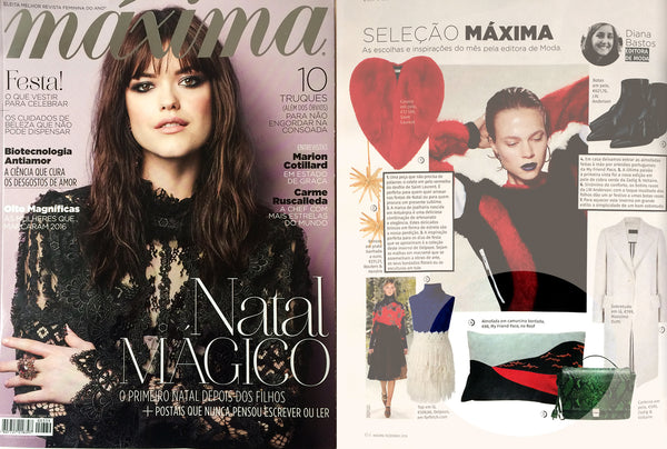 my friend paco's embroidered cushion at maxima magazine Portugal