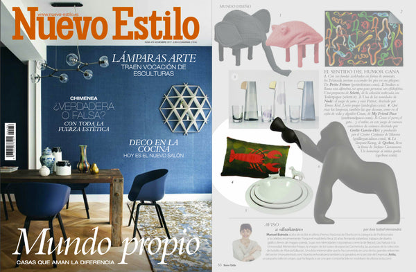 silk designer cushion CRUST by my friend paco at nuevo estilo Spain magazine
