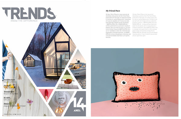 My Friend Paco cotton designer cushion at TRENDS magazine portugal