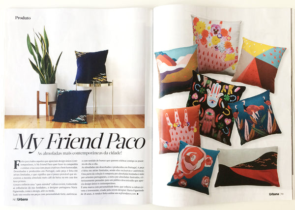 My friend paco cushions at Urbana interior design magazine