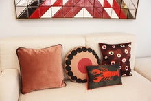 Load image into Gallery viewer, OOOH WINE round cushion designer cushions, silk scarfs, rugs and bags - My Friend Paco