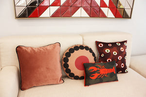 OOOH WINE round cushion designer cushions, silk scarfs, rugs and bags - My Friend Paco