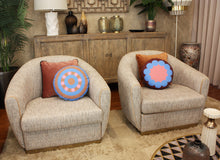 Load image into Gallery viewer, OOOH BERRY round cushion designer cushions, silk scarfs, rugs and bags - My Friend Paco