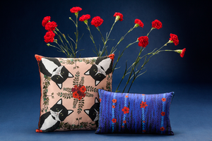CLEO silk cushion designer cushions, silk scarfs, rugs and bags - My Friend Paco