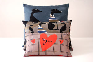 WINK OF LOVE II cushion designer cushions, silk scarfs, rugs and bags - My Friend Paco