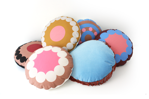 OOOH MERENGUE round cushion designer cushions, silk scarfs, rugs and bags - My Friend Paco