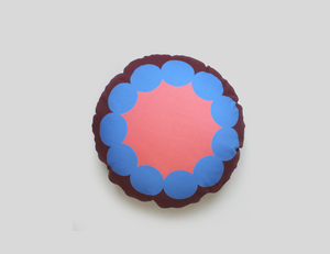 OOOH BERRY round cushion designer cushions, silk scarfs, rugs and bags - My Friend Paco
