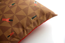 Load image into Gallery viewer, RIDE brown cushion designer cushions, silk scarfs, rugs and bags - My Friend Paco