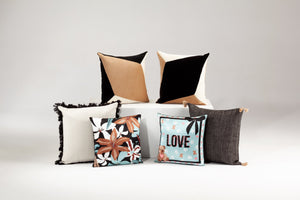 DALILA blue silk cushion designer cushions, silk scarfs, rugs and bags - My Friend Paco