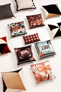 LOVE GARDEN silk cushion designer cushions, silk scarfs, rugs and bags - My Friend Paco