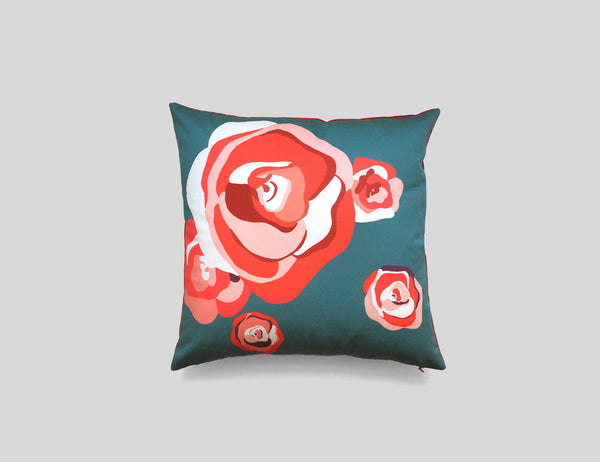 AURORE printed cotton cushion by My Friend Paco homewares designer velvet cushions, cotton printed cushions, silk printed cushions, silk scarves, hand tufted wool rugs and many more creative goods for making your home and life happy in every moment.
