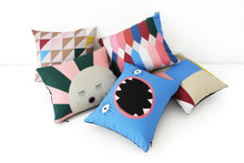 Load image into Gallery viewer, CUBE baby cushion designer cushions, silk scarfs, rugs and bags - My Friend Paco