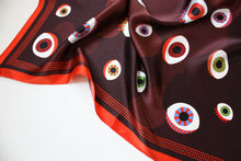 Load image into Gallery viewer, EYE silk scarf designer cushions, silk scarfs, rugs and bags - My Friend Paco
