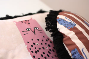FAT CAT II cushion designer cushions, silk scarfs, rugs and bags - My Friend Paco