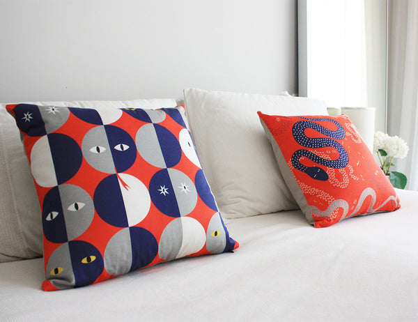printed decorative cushions by My Friend Paco