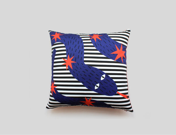 Cotton printed accent pillow by My Friend Paco