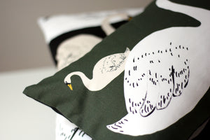 MOTHER SWAN cushion designer cushions, silk scarfs, rugs and bags - My Friend Paco