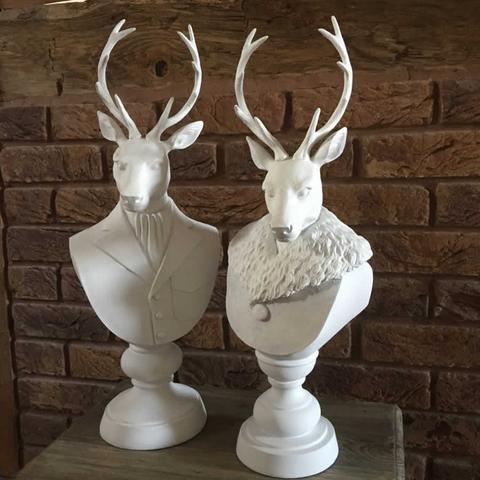 Large Male Deer Bust A Little Bit Of Blighty By Clare Simpson