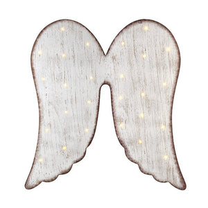 Large Wall Hanging Wooden Angel Wings With Led Lights