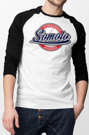 Somoto Two Tone 3/4 Sleeve Men's Baseball T-Shirt