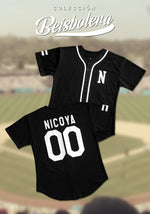 Black and White Personalized Baseball Jersey