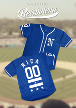Blue and White Flag Personalized Baseball Jersey