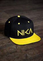 Black & Yellow NIKA Snapback Hat