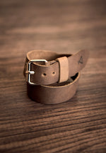 Logo Leather Wristband