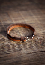 Two Tone Leather Wristband