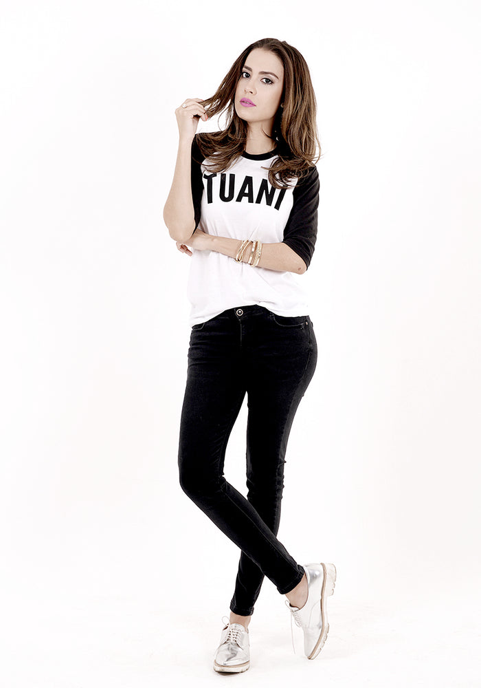 Tuani Urbanica Two Tone 3/4 Sleeve Women's T-shirt