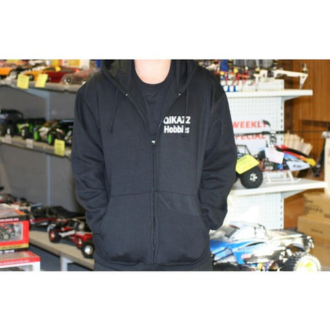 QIKAZZ Black Hoodie With Zip