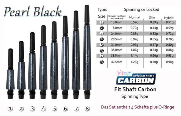Cosmo Fit Shaft Carbon -Spinning- Pearl Black