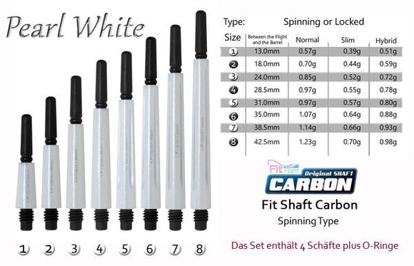 Cosmo Fit Shaft Carbon -Spinning- Pearl White