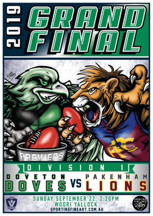 AFL Outer East Division 1 Grand Final Poster