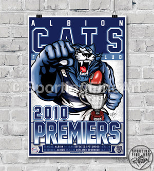 Albion Cats FC 2010 Premiership Poster