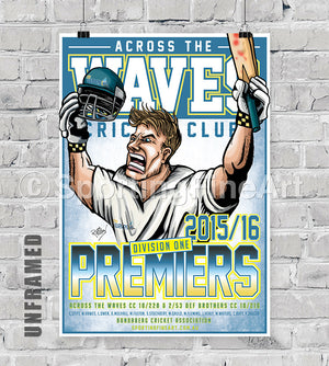 Across the Waves CC 2015/16 Premiership Poster