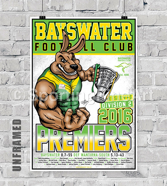 Bayswater FC Reserves Premiership Poster