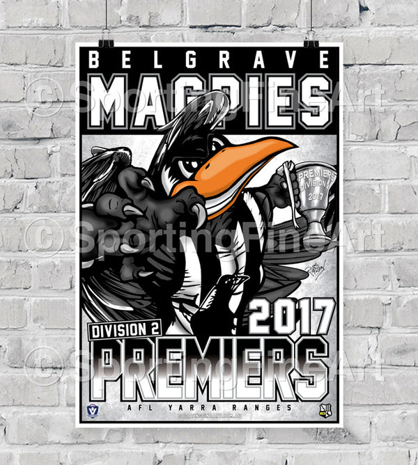 Belgrave Football Club 2017 Premiership Poster