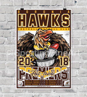 Boronia Football Club 2018 Premiership Poster