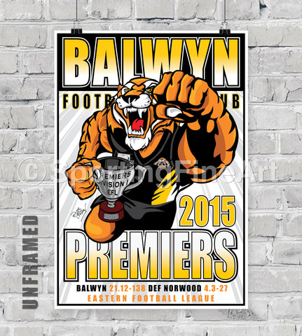 Balwyn Football Club 2015 Premiership Poster