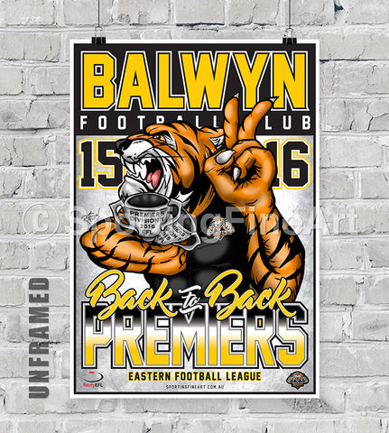 Balwyn Football Club 2016 Premiership Poster