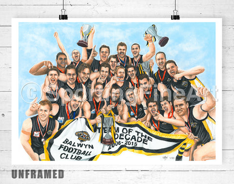 Balwyn FC Team of the Decade Fine Art Print