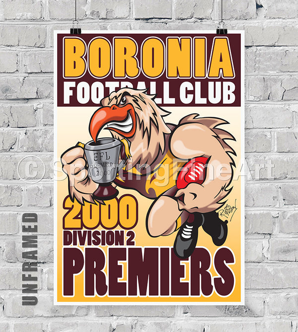 Boronia Football Club 2000 Premiership Poster