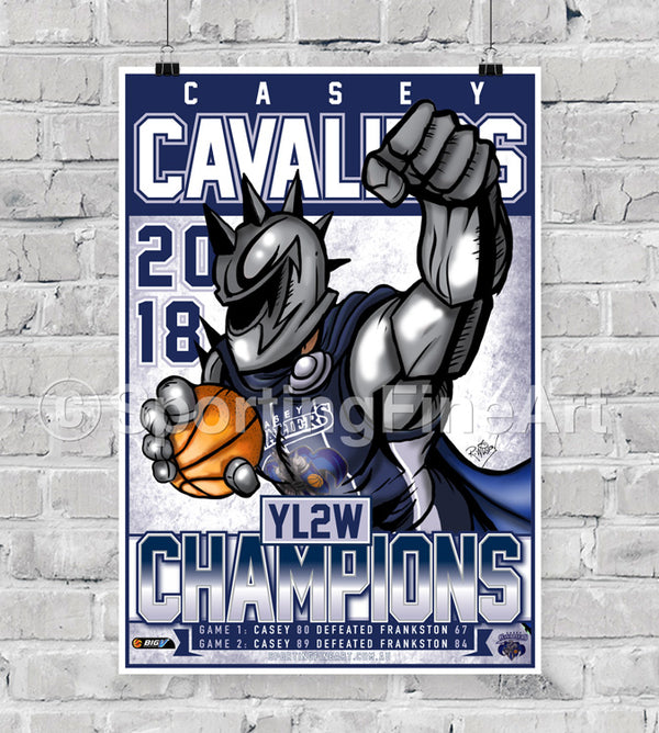 Casey Cavaliers 2018 Championship Poster