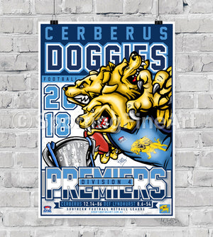 Cerberus Football Club 2018 Premiership Poster