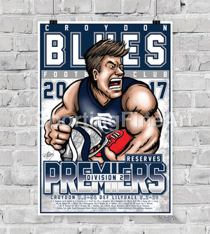 Croydon FC Reserves 2017 Premiership Poster