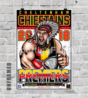 Cheltenham Football Netball Club 2018 Premiership Poster