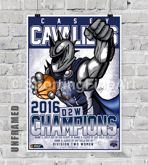 Casey Cavaliers 2016 Championship Poster